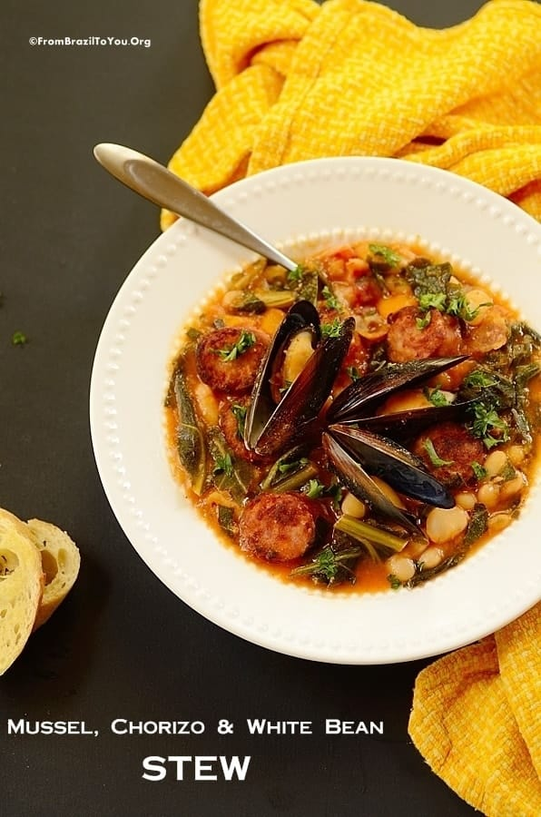 Mussel, Chorizo, and White Bean Stew