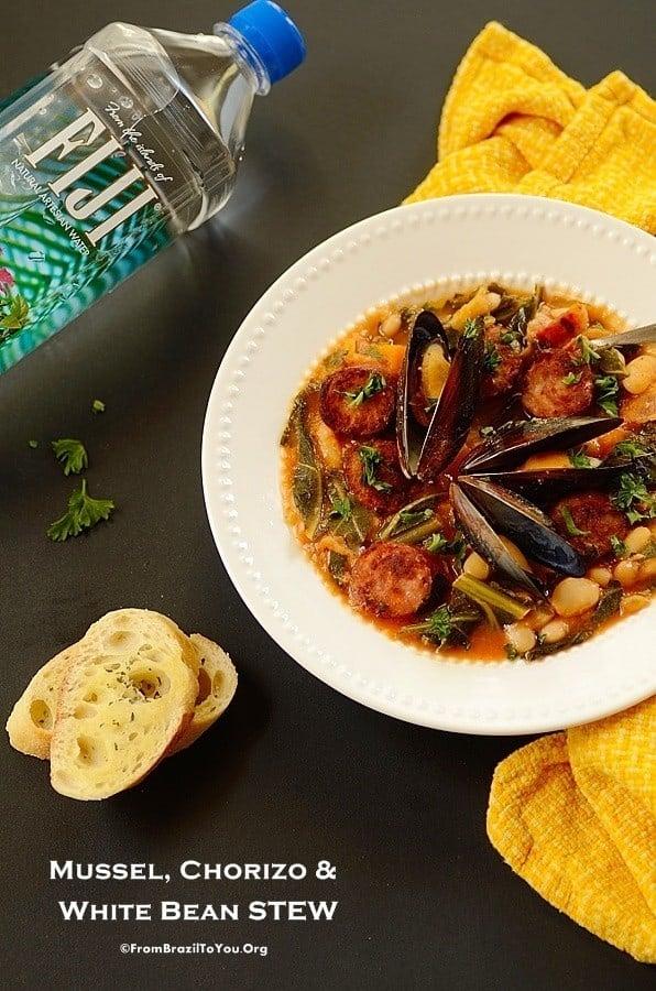 Mussel, Chorizo, and White Bean Stew