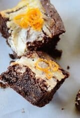 Gluten-Free Marbled Orange Brownies