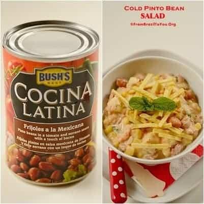 A bowl of pinto bean salad