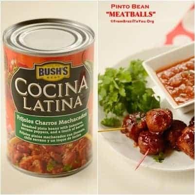 4 Bean Appetizers -- Pinto Bean MEATBALLS