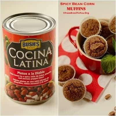 4 Bean Appetizers -- Spicy Bean Corn MUFFINS