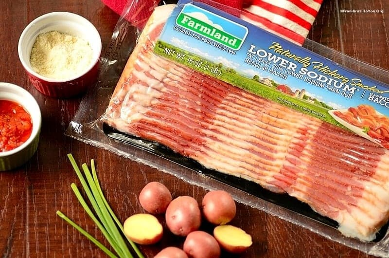 Baked Baby Potatoes with Bacon -- Ingredients