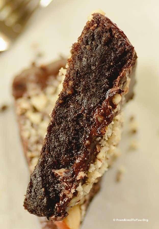 Choco nut cake -- slice