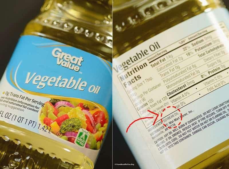 Soybean oil label