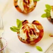 grilled-peaches-teriyaki-sauce