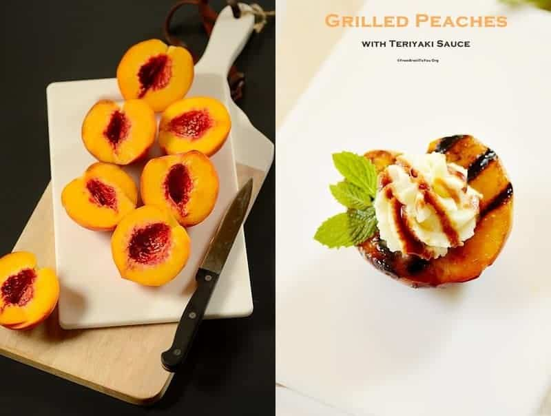 Before serving, top grilled peaches with (made ahead) mascarpone cream ...