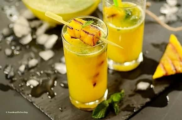 Sparkling Pineapple Mint Juice with Grilled Pineapple - From Brazil To ...