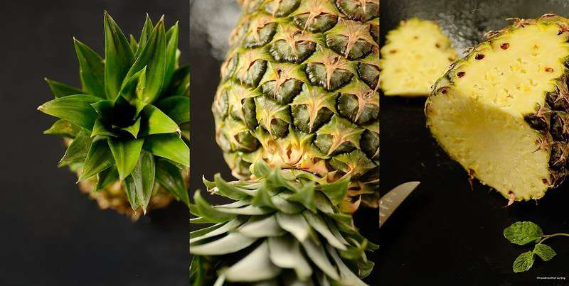 Sparkling Pineapple Mint Juice with Grilled Pineapple ...