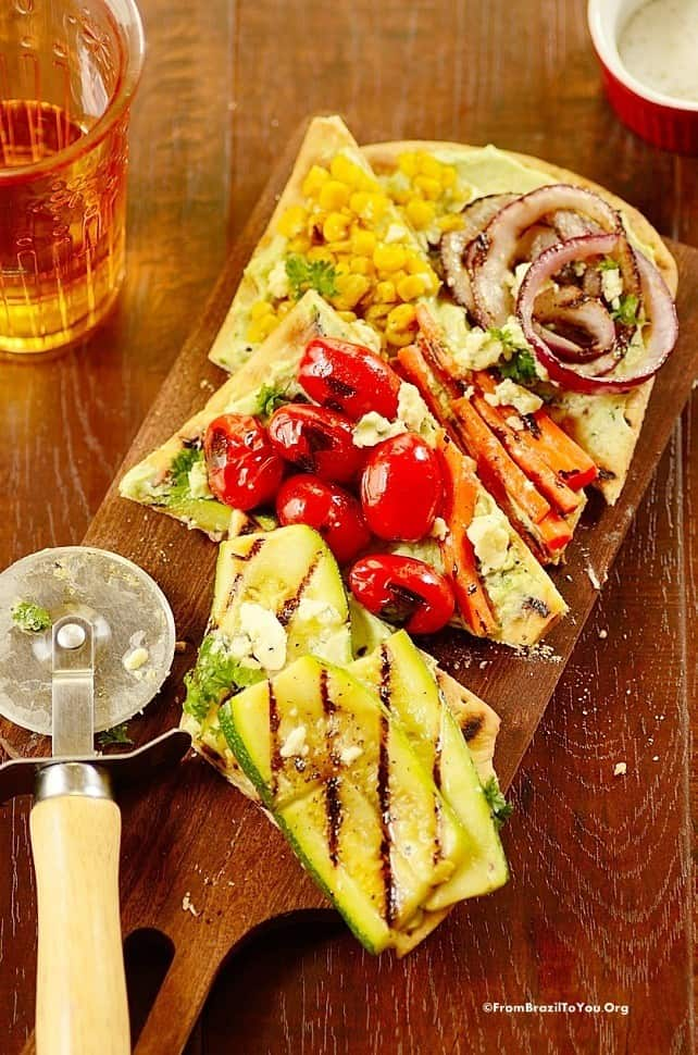 Grilled Vegetable Pizza - A Summer Stunner! - From Brazil To You