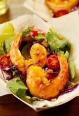 Shrimp Tapioca Crepes (Tapioca com Camarão no Dendê)
