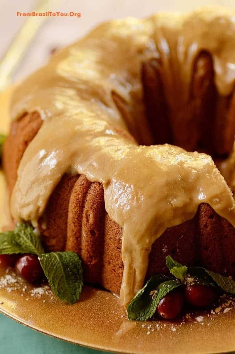 Spiced Sweet Potato Pound Cake with Caramel Frosting - From Brazil To ...