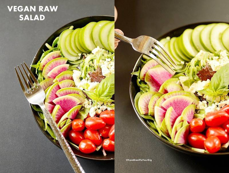 vegan raw salad