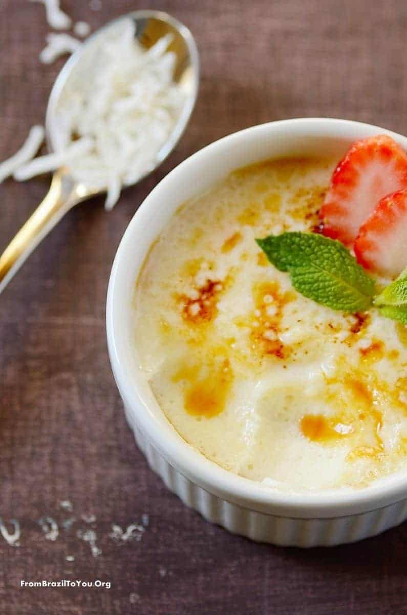 Four Ingredient, No Cook Coconut Creme Brulee