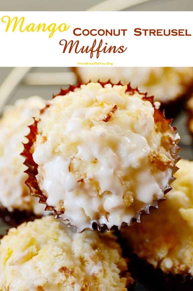 Mango Coconut Streusel Muffins