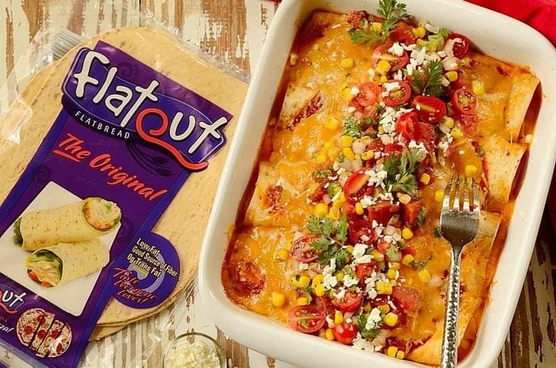 Flatbread-Ham-and-Cheese-Brazilian-Enchiladas, Panquecas-de-Pão-Sírio-com-Queijo-e-Presunto