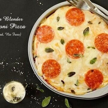 Kitchen-blender-pepperoni-pizza