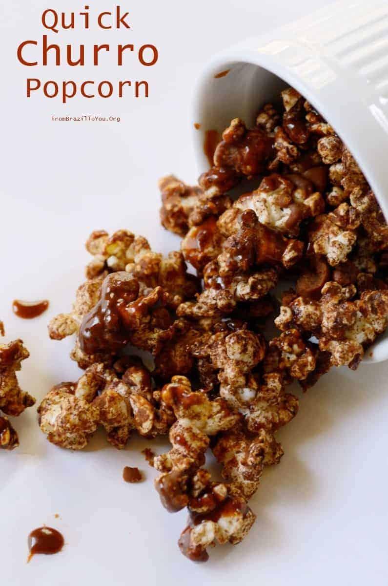 Quick Churro Popcorn (Pipoca de Churros)