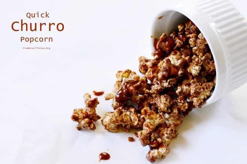 Quick Churro Popcorn -- Pipoca de Churros