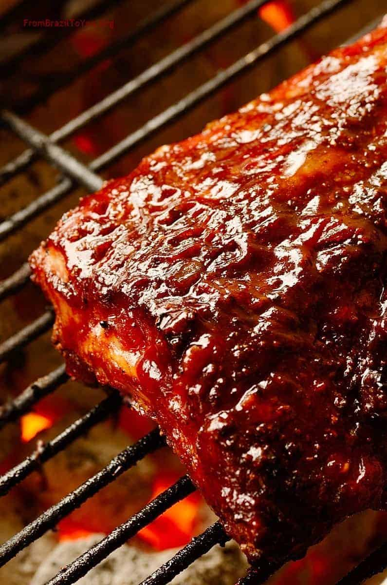Red wine barbecue pork ribs easy and delish - Ribs on the grill recipe ...