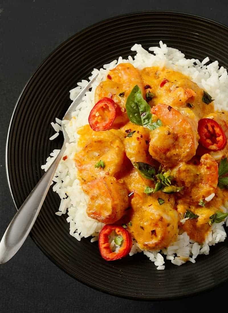 One-pot-shrimp-in-coconut-sauce