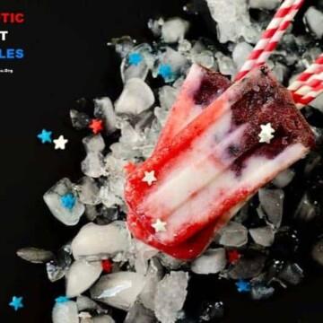 Berry-Coconut-Yogurt-Popsicles, Patriotic-Fruit-Popsicles