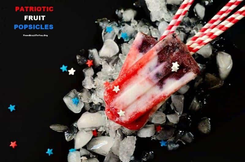 Patriotic Fruit Popsicles -- Berry Coconut Yogurt Popsicles(2)