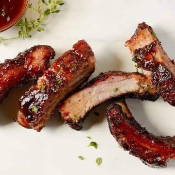 Red-wine-barbecue-pork-ribs