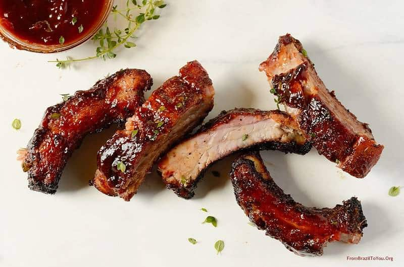 Red-wine-barbecue-pork-ribs