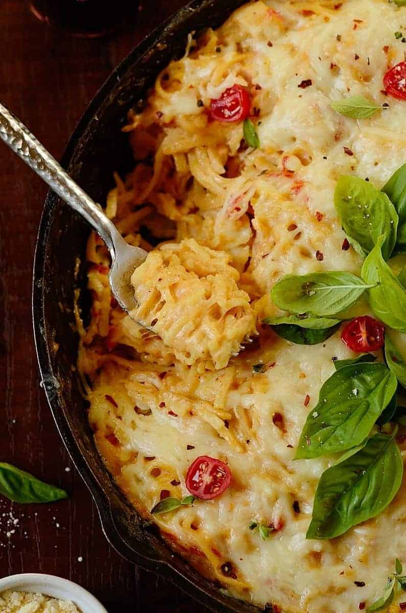 Creamy-chicken-bacon-pasta-bake