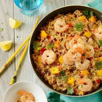 Easy-shrimp-coconut-fried-rice