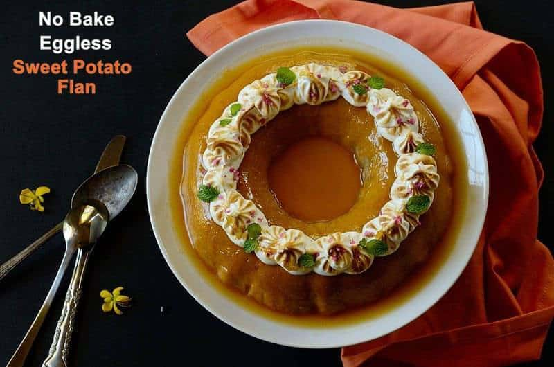 no-bake-eggless-sweet-potato-flan