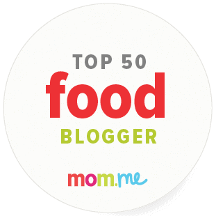 Badge of Top 50 mom food bloggers