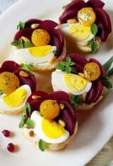 Pickled Beet Goat Cheese Tartlets