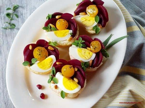 Pickled-beet-goat-cheese-tartlets