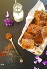 Easy Dulce de Leche Churro Blondies