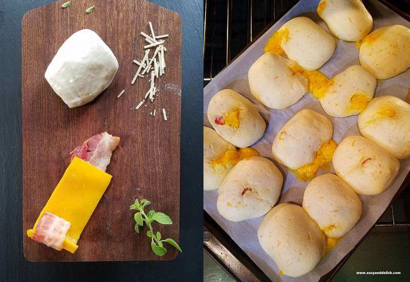 collage showing how to make gluten-free hot pockets