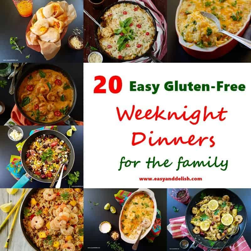 20 easy gluten free weeknight dinners for the family easy and delish from stews to casseroles pastas to rice dishes sandwiches and soups our list delivers comfort and convenience to your table and a huge smile on the face forumfinder Choice Image