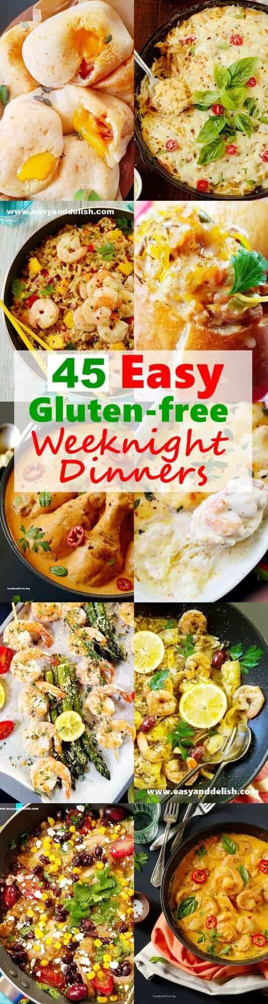 45 Easy Gluten-Free Weeknight Dinners for the Family - Easy and Delish