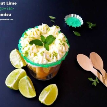 coconut tiramisu ina  glass