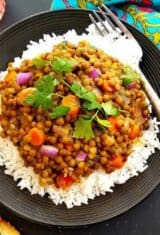 Quick Vegetarian Lentil Coconut Curry