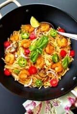 Quick Shrimp Thai Noodles Stir-Fry
