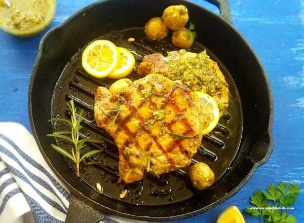 Pan-Grilled-Pork-Chops-with-Chimichurri-Sauce