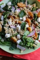 Easy Roasted Shrimp Couscous Salad -- Guest Post by Sweet Life Bake
