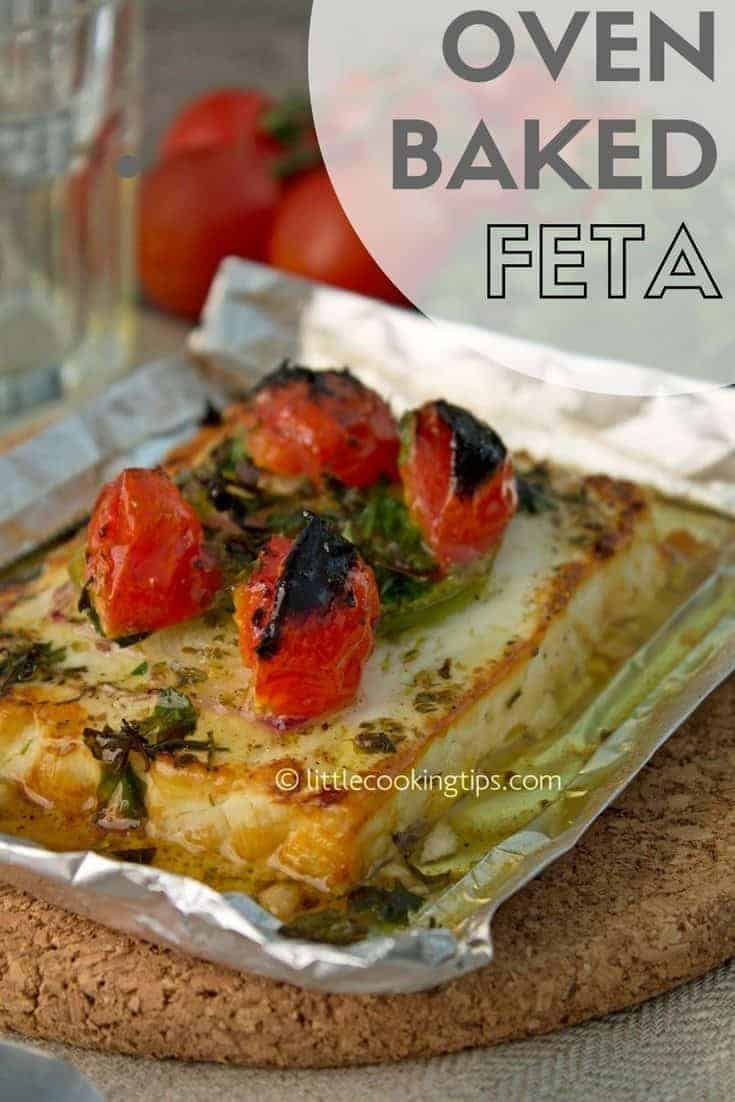 baked feta close up