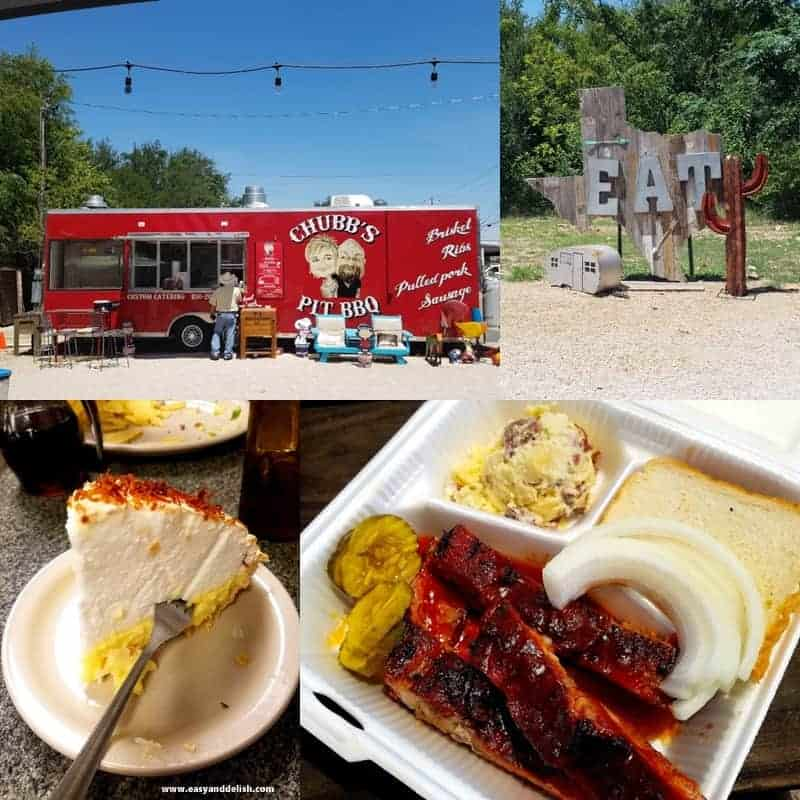 collage of food truck in Marble Falls