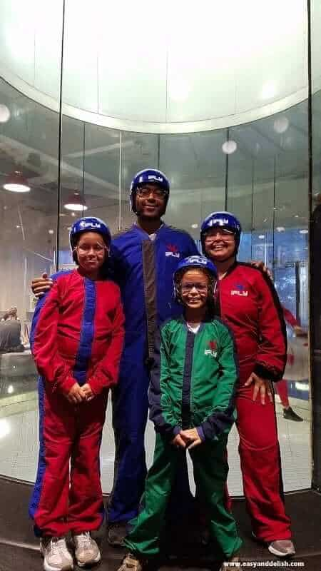 A group of people posing for the camera at iFly