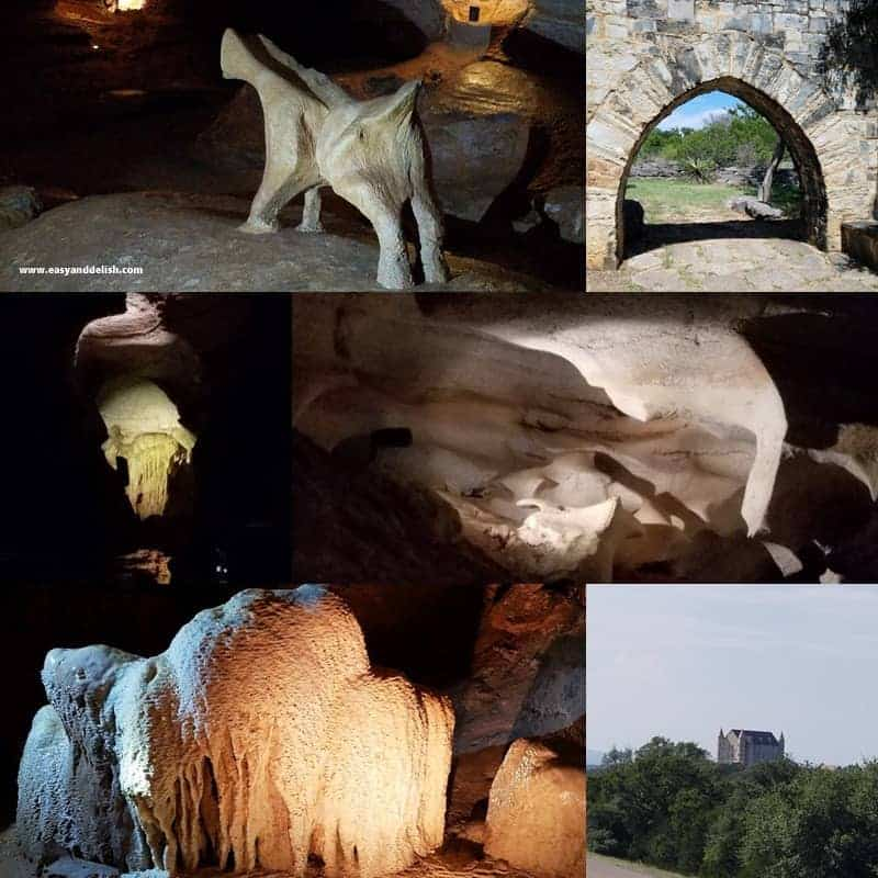 collage of Longhorn Caverns State Park