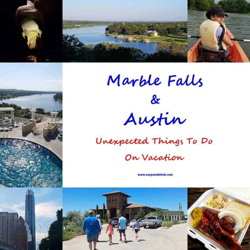 A collage of Marble Falls, Texas