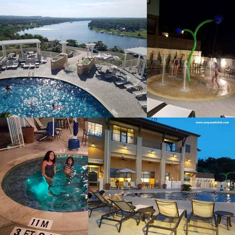 collage of a hotel in Marble Falls